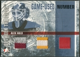 2006/07 Between The Pipes #GUN68 Alex Auld Numbers Triple Patch /10