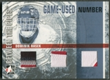2006/07 Between The Pipes #GUN61 Dominik Hasek Numbers Triple Patch /10