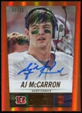2014 Panini Hot Rookies Rookie Signatures Orange #331 A.J. McCarron Serial #5/25