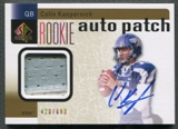 2011 SP Authentic #233 Colin Kaepernick Rookie Patch Auto #428/699