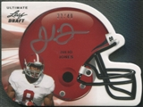 2011 Leaf Ultimate Draft #HJJ2 Julio Jones Helmet Die Cuts Rookie Auto #33/49