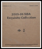 2005/06 Upper Deck Exquisite Basketball Hobby 3-Box Case