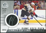 2013-14 Upper Deck SP Game Used Stanley Cup Finals Materials Game 1 Used Puck #SCGUPML Milan Lucic