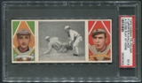 1912 Hassan Triple Folders T202 #1 A Close Play at Home Plate Bobby Wallace & Frank LaPorte PSA 5 (EX)