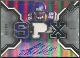 2007 SPx #218 Adrian Peterson Rookie Jersey Auto #086/299