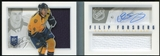 2013-14 Panini Playbook #119 Filip Forsberg 1/199 RC Auto Jersey Booklet 1/1