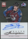 2012/13 Elite #EIJS Joe Sakic Elite Inscriptions Auto SP