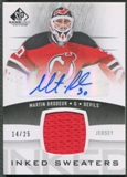 2013-14 SP Game Used #ISMB Martin Brodeur Inked Sweaters Jersey Auto #14/25