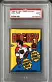 1980/81 O-Pee-Chee Hockey Wax Pack Graded PSA 9 (MINT) *2074