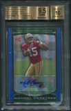 2009 Bowman Chrome #135 Michael Crabtree Blue Refractor Rookie Auto #12/35 BGS 9.5 (GEM MINT)