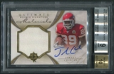 2008 Ultimate Collection #212 Jamaal Charles Rookie Jersey Auto #124/375 BGS 9 (MINT)
