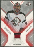 2002/03 Between the Pipes #16 Martin Biron Emblem /10