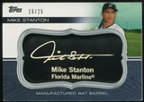 2010 Topps Update Manufactured Bat Barrel Black #MB67 Giancarlo Mike Stanton 19/25