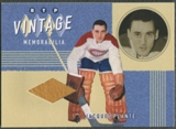 2002/03 Between the Pipes #10 Jacques Plante Vintage Memorabilia Pad /20
