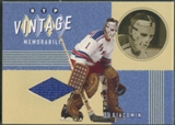 2002/03 Between the Pipes #20 Ed Giacomin Vintage Memorabilia Jersey /20