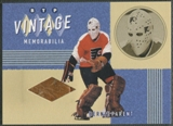 2002/03 Between the Pipes #8 Bernie Parent Vintage Memorabilia Pad /20