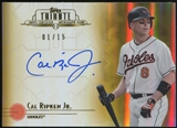 2014 Topps Tribute Autographs Gold #TACR Cal Ripken Jr. 1/15