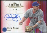 2014 Topps Tribute Autographs Red #TADW David Wright 5/5