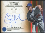 2014 Topps Tribute Autographs Sepia #TACKE Clayton Kershaw 25/35