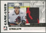 2007/08 ITG Heroes and Prospects #GUE19 Bryan Cameron Emblem /30