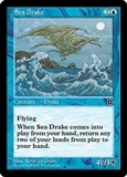 Magic the Gathering Portal 2 Single Sea Drake UNPLAYED (NM/MT)