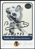 2001-02 Fleer Greats of the Game Autographs #7 Bobby Hull