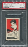 1947 D. Cummings & Sons Boxing #2 Freddie Mills Famous Fighters PSA 8 (NM-MT)