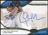 2014 Topps Tier One Acclaimed Autographs #AACKE Clayton Kershaw 50/50