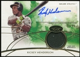 2014 Topps Tier One Autograph Relics #TOARRH Rickey Henderson 27/99