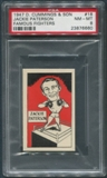 1947 D. Cummings & Sons Boxing #18 Jackie Paterson Famous Fighters PSA 8 (NM-MT)