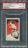 1947 D. Cummings & Sons Boxing #22 K.O. Morgan Famous Fighters PSA 8 (NM-MT)