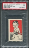 1947 D. Cummings & Sons Boxing #33 Nel Tarleton Famous Fighters PSA 7 (NM)