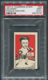 1947 D. Cummings & Sons Boxing #34 Jim Kenny Famous Fighters PSA 9 (MINT) (OC)