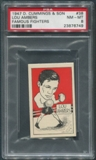 1947 D. Cummings & Sons Boxing #38 Lou Ambers Famous Fighters PSA 8 (NM-MT)