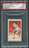 1947 D. Cummings & Sons Boxing #50 Jack Dempsey Famous Fighters PSA 9 (MINT) (OC)