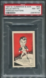1947 D. Cummings & Sons Boxing #53 Willie Whyte Famous Fighters PSA 8 (NM-MT)