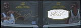 2012/13 Upper Deck Exquisite Collection Black Leather Autographs Dual #JJ Michael Jordan Magic Johnson 30/40