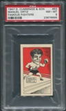 1947 D. Cummings & Sons Boxing #63 Manuel Ortiz Famous Fighters PSA 8 (NM-MT)