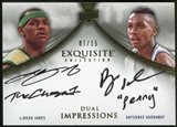 2012/13 Upper Deck Exquisite Collection Impressions Dual #JH LeBron James Anfernee Hardaway 7/15