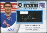 2012/13 Upper Deck The Cup Auto Draft Boards #DBCK Chris Kreider 12/25