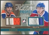 2011/12 ITG Heroes and Prospects #HP08 Paul Coffey & Griffin Reinhart Hero and Prospect Gold Jersey /10