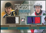 2011/12 ITG Heroes and Prospects #HP03 Raymond Bourque & Dougie Hamilton Hero and Prospect Gold Jersey /10