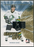 2007/08 ITG Heroes and Prospects #GO01 Patrick Kane Gloves Are Off Gold Glove /10
