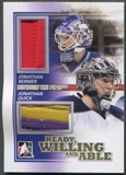 2010/11 Between The Pipes #RWA06 Jonathan Quick & Jonathan Bernier Ready Willing and Able Gold Jersey /10