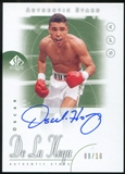 2014 Upper Deck SP Authentic Tiger Woods 2001 Tribute #TWOD Oscar De La Hoya 8/10