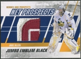 2010/11 ITG Heroes and Prospects #NPM01 Jake Allen Net Prospects Jumbo Black Emblem /6