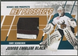 2010/11 ITG Heroes and Prospects #NPM07 Cory Schneider Net Prospects Jumbo Black Emblem /6