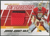 2010/11 ITG Heroes and Prospects #NPM03 Olivier Roy Net Prospects Jumbo Gold Jersey /10