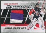 2010/11 ITG Heroes and Prospects #NPM05 Mark Visentin Net Prospects Jumbo Gold Jersey /10