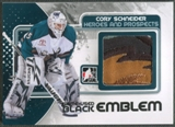 2010/11 ITG Heroes and Prospects #M11 Cory Schneider Game Used Black Emblem /6